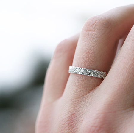 BRAIDED DIAMOND ETERNITY BAND