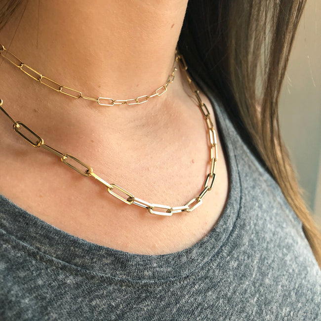 BIGGIE LONG LINK CHAIN NECKLACE