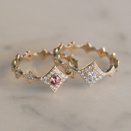 14K CURVED BAR DIAMOND BRACELET