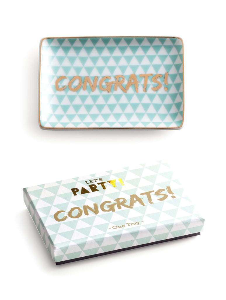 CONGRATS! TRAY - katie diamond jewelry