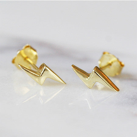 LIGHTNING BOLT STUDS - katie diamond jewelry