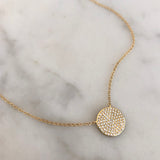 JAGGER DIAMOND MEDALLION NECKLACE