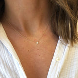 PETITE DIAMOND DISC NECKLACE