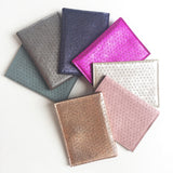 METALLIC POUCH CARD HOLDER