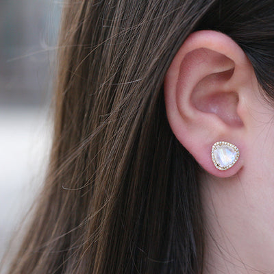 MAGICAL MOONSTONE STUDS