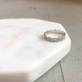 Naomi Gold Crown Lace Eternity Band