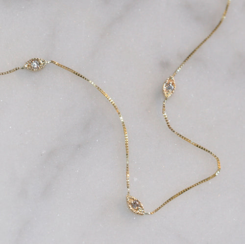 NOOR STATION NECKLACE - katie diamond jewelry