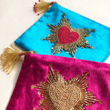 BEADED VELVET POUCHES
