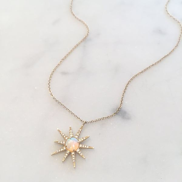 OPAL STARBURST NECKLACE