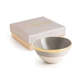 ORGANIC COLORBLOCK BOWL - LIGHT GRAY