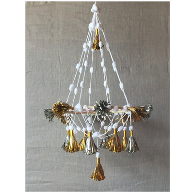 METALLIC PAPER TASSEL CHANDELIER - katie diamond jewelry