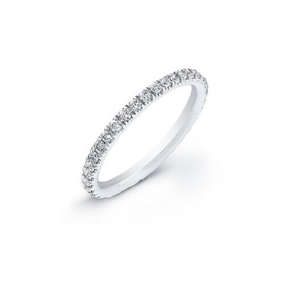PAVE BIRTHSTONE ETERNITY BAND