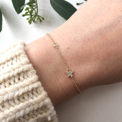 PAVE STAR & BEZEL SET DIAMOND BRACELET