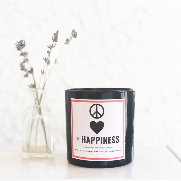 PEACE LOVE & HAPPINESS CANDLE