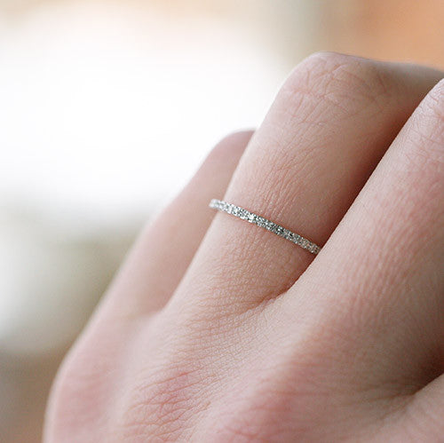PETITE DIAMOND ETERNITY BAND - katie diamond jewelry
