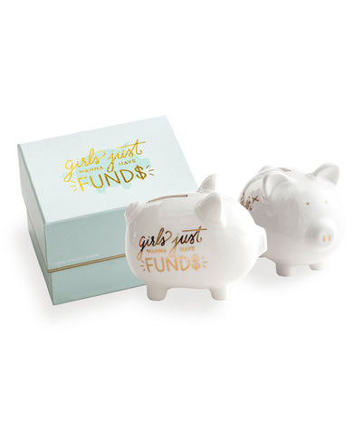 GIRLS JUST WANT TO HAVE FUNDS PIGGY BANK - katie diamond jewelry