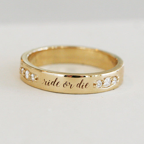 CUSTOM ENGRAVABLE DIAMOND BAND - katie diamond jewelry