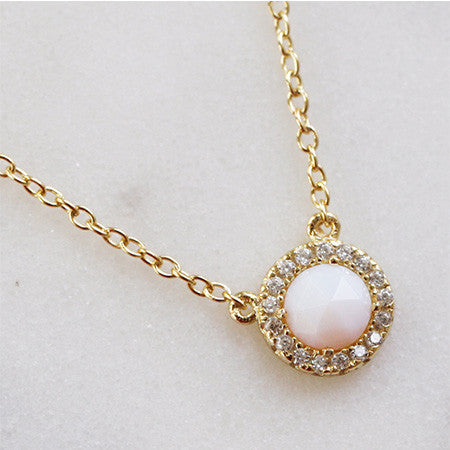 ROSE CUT HALO NECKLACE