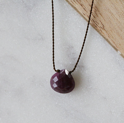 RUBY ZEN GEM NECKLACE