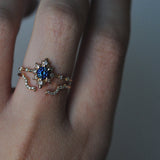 Sofia Zakia Alternative Bridal Ring Stack with Sapphire