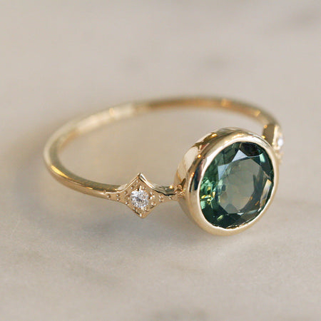 MIRA TOURMALINE AND DIAMOND RING