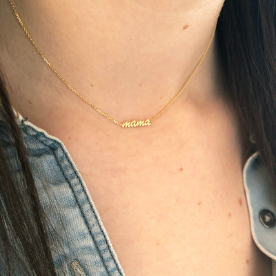 Script Mama Choker Necklace