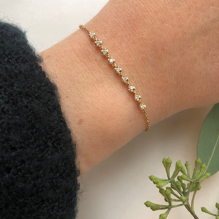 MINI DIAMOND BAR BRACELET