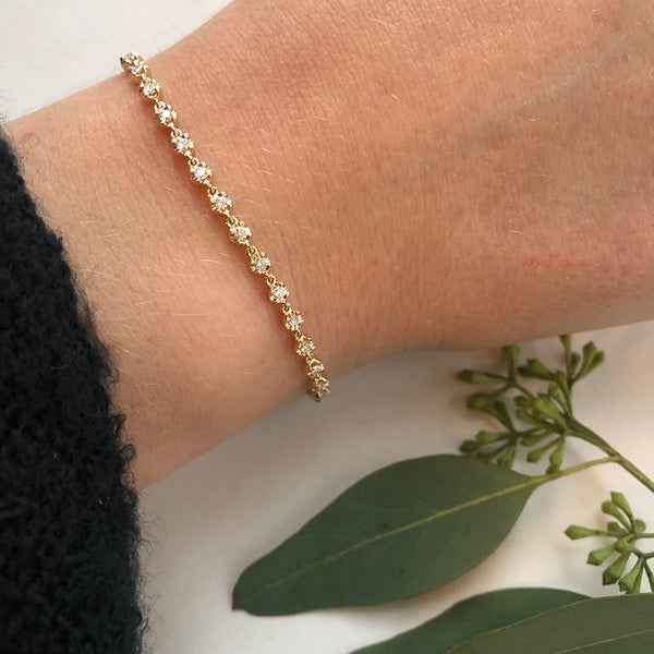 Delicate Diamond Tennis Bracelet
