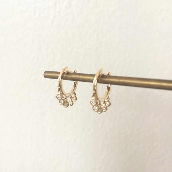14K DIAMOND SHAKER HOOPS