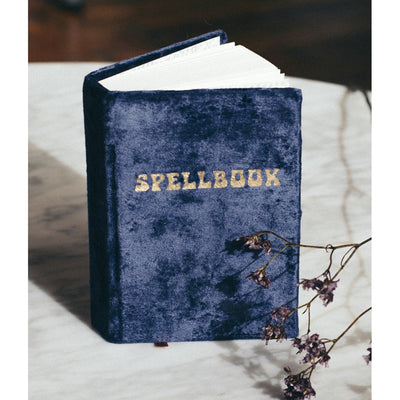 SPELLBOOK - SMALL NAVY VELVET JOURNAL