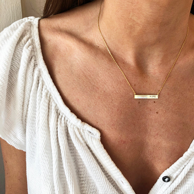 CUSTOMIZABLE BAR NECKLACE