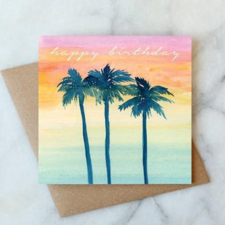 PALMS HAPPY BIRTHDAY CARD