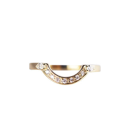 WHITE DIAMOND MINI DECO POINT RING