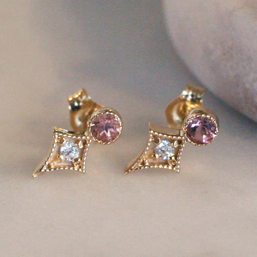 TAYLOR STUDS - katie diamond jewelry
