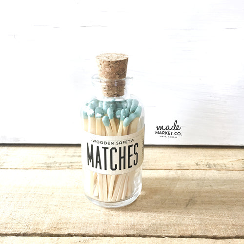 TEAL MATCHES APOTHECARY VINTAGE SMALL - katie diamond jewelry