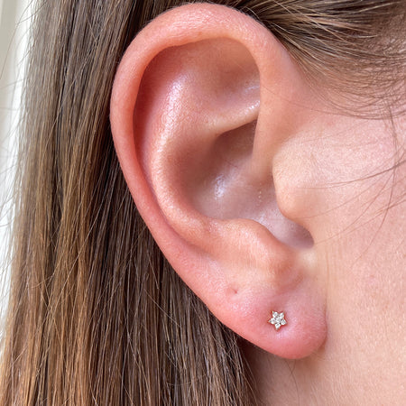 TINIEST DIAMOND DISC STUDS