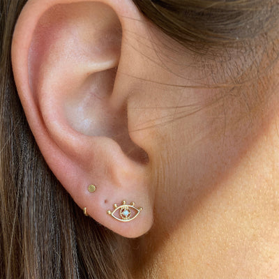 THIRD EYE DIAMOND STUDS
