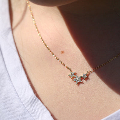 THREE WISHES DIAMOND STAR NECKLACE