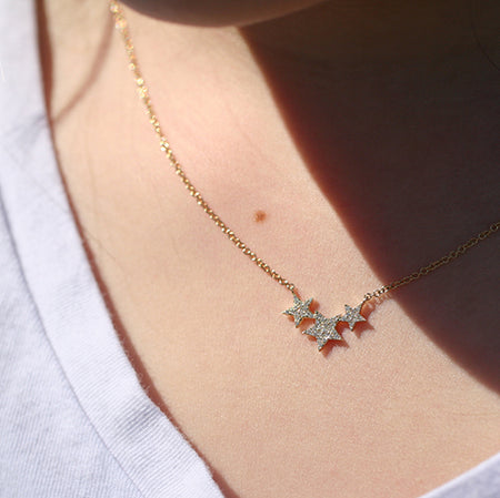 SERENE TOPAZ & MOONSTONE CLUSTER NECKLACE