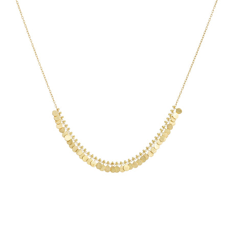 MEDIUM & LARGE DISC DOUBLE DROP DIAMOND NECKLACE