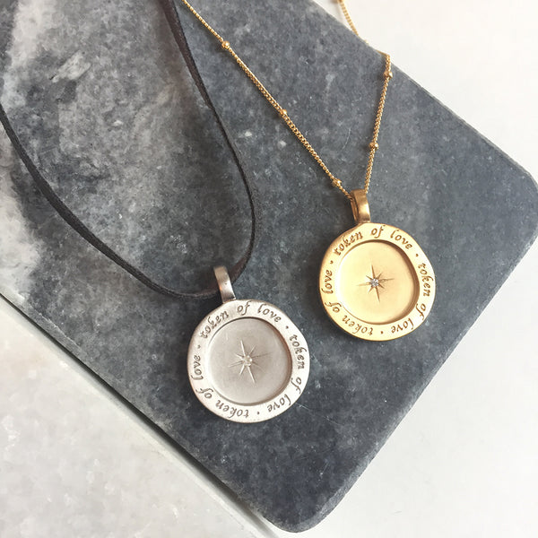 TOKEN OF LOVE DISC NECKLACE