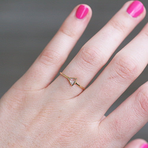 TRIANGLE TOPAZ RING