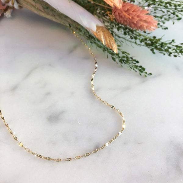 Sparkly Gold Chain Choker Necklace