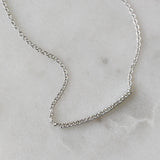 PETITE DIAMOND CURVED NECKLACE - katie diamond jewelry