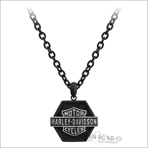 Harley-Davidson® Men's B&S Off-Road Stainless Steel Necklace - HSN0051 - Men's Jewelry