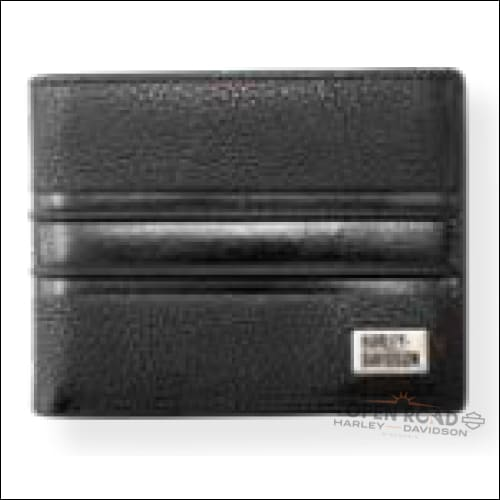 Harley-Davidson® Men's Racer Strip Billfold Wallet - RS6655L-BLACK - Men's Wallet