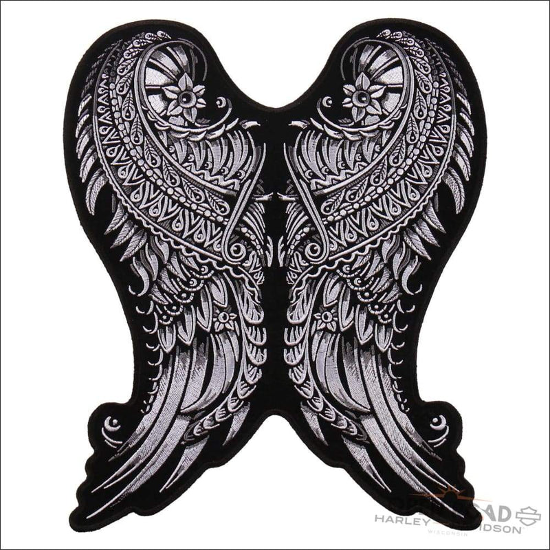 Hot Leathers Ornate Angel Wings 9x10 Patch - Patches Pins & Magnets