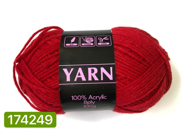 Knitting Yarn Dark Red 100g