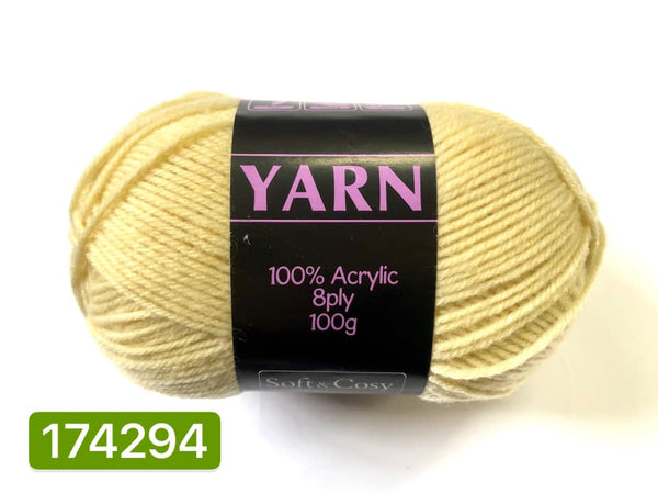 Knitting Yarn Light Yellow 100g