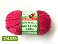 Knitting Yarn Bright Pink 100g